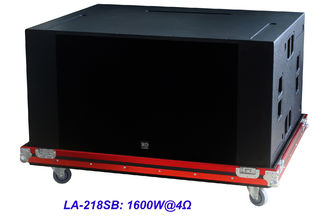 "High SPL Plywood loudspeaker 2 x 18"" Horn Loaded 4ohm 1600W Subwoofer For Living Event And Show"